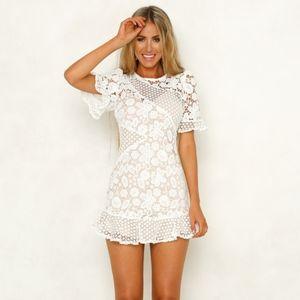 96415017fe Hello Molly Raise The Stakes Crochet Dress White